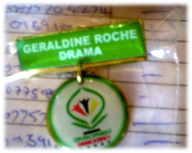 badge from geraldine roche drama