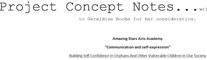 concept notes for geraldine roche drama