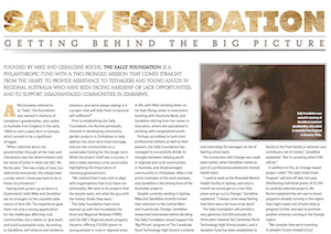 intro to sally foundation in orange city life mag